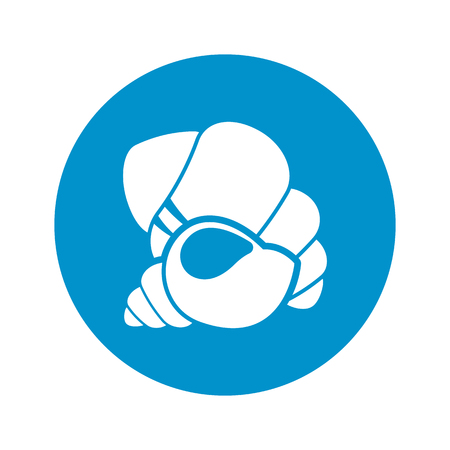 shell icon on white background for web