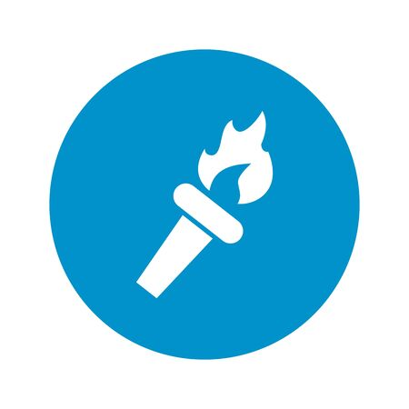 primitive tools: torch icon on white background for web