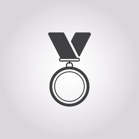medal: medal icon on white background for web