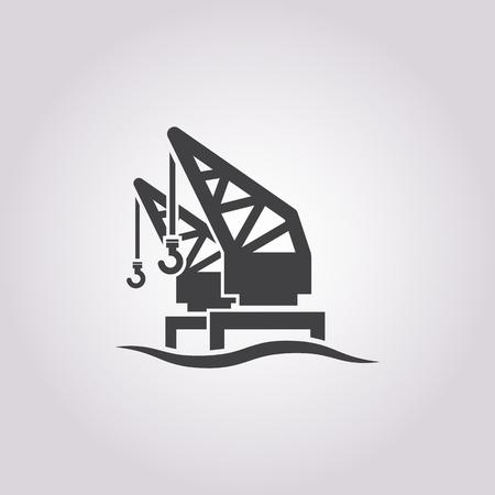 crane icon on white background for web