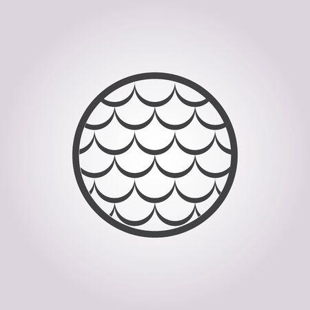 escamas de peces: escalas de peces icono en el fondo blanco para la web Vectores