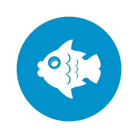 tail fin: fish icon on white background for web