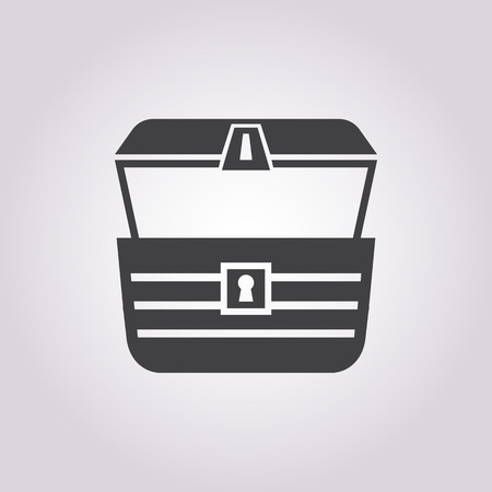loot: chest icon on white background for web