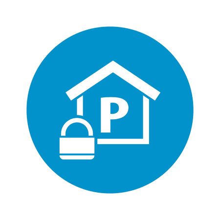 closed parking: parking place icon on white background for web