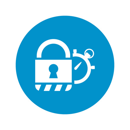 without delay: security system icon on white background for web