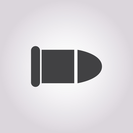 bullet: bullet icon on white background for web
