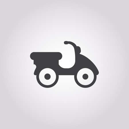 moped: moped icon on white background for web