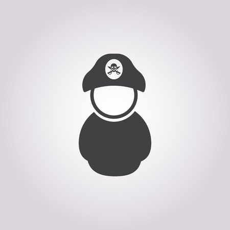 sea robber: pirate icon on white background for web Illustration