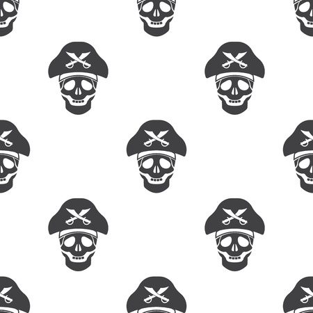 saber: skull and saber icon on white background for web Illustration