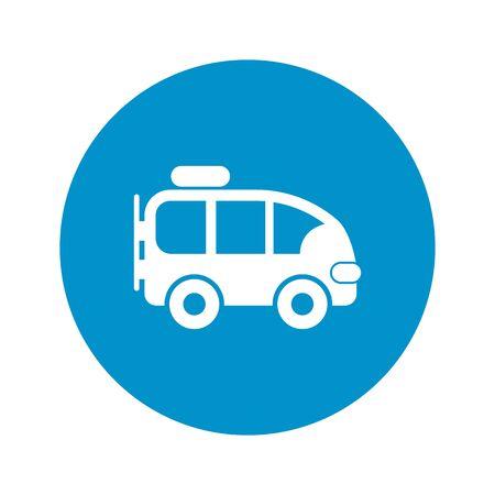 minibus: minibus icon on white background for web