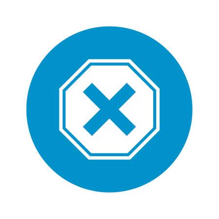 interdiction: panneau d'interdiction icône sur fond blanc pour le web
