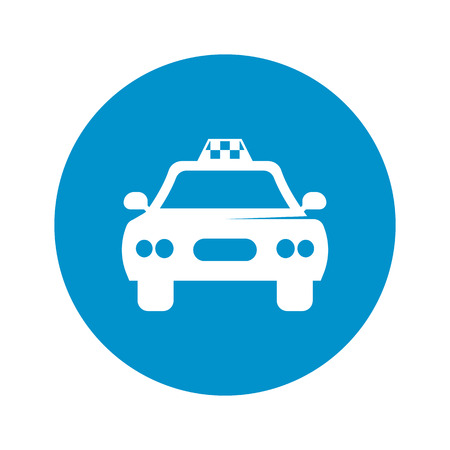 relocate: taxi icon on white background for web