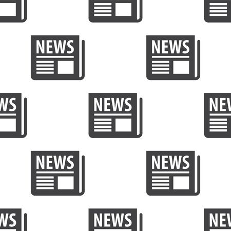 newspaper icon: newspaper icon on white background for web Illustration