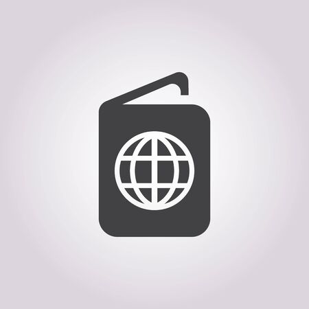 background isolated: passport icon on white background for web