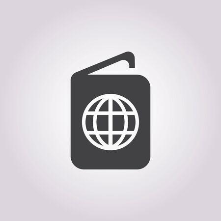 passport background: passport icon on white background for web