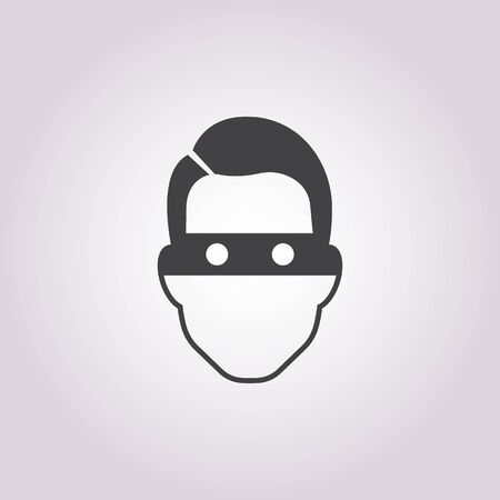 swindler: thief icon on white background for web Illustration