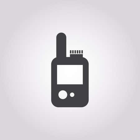 portable radio: portable radio icon on white background for web