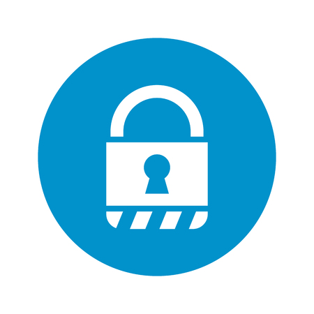 guarded: lock icon on white background for web Illustration