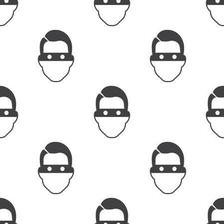 swindler: thief icon on white background for web Illustration