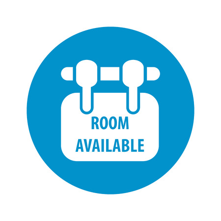 available: room available icon on white background for web Illustration