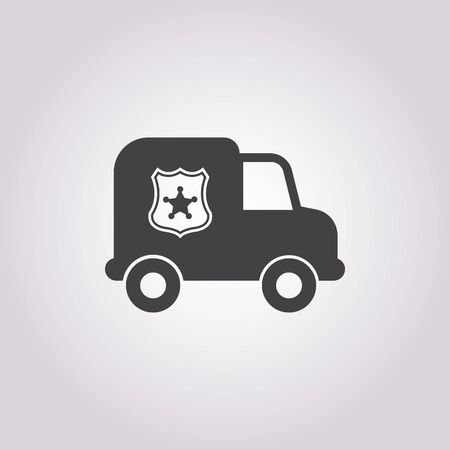 security lights: police car icon on white background for web