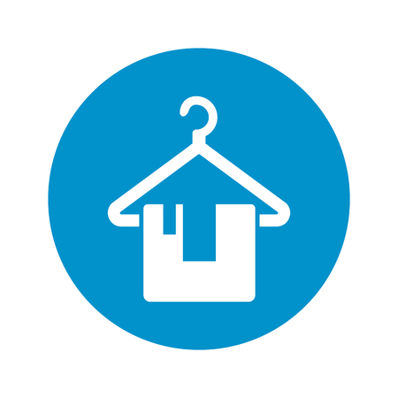 hotel staff: hanger icon on white background for web