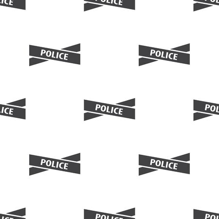 evidences: police tape icon on white background for web