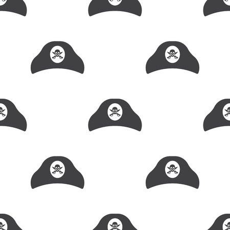 tricorn hat: tricorn hat  icon on white background for web