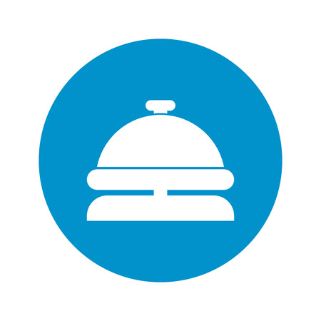 concierge icon on white background for web