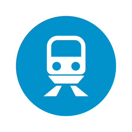 trains: train icon on white background for web Illustration