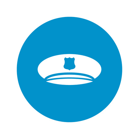 web cap: police cap icon on white background for web Illustration