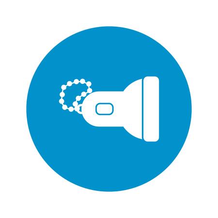 lighting button: flashlight icon on white background for web Illustration