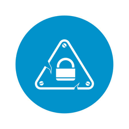 lock icon on white background for web Illustration