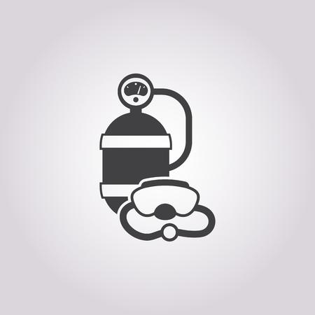 balon: diving equipment icon on white background for web Illustration