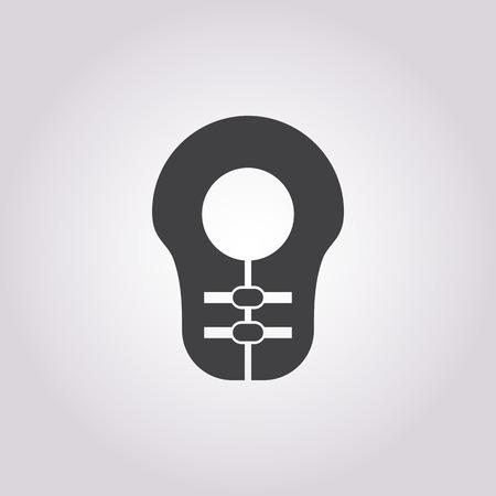 life jacket: life jacket icon on white background for web