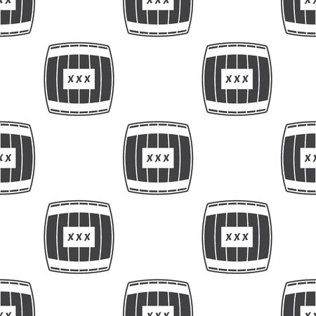 wooden barrel: barrel icon on white background for web Illustration