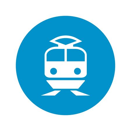 coupe: train icon on white background for web Illustration