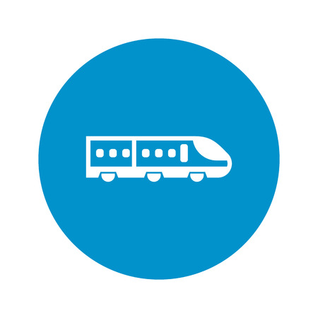 high speed: high speed train icon on white background for web