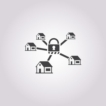 robbed: security system icon on white background for web