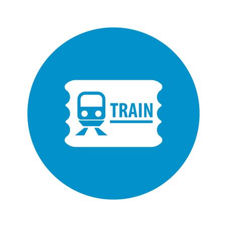 train ticket: train ticket icon on white background for web Illustration
