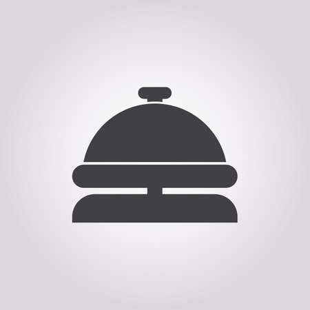 check book: concierge icon on white background for web