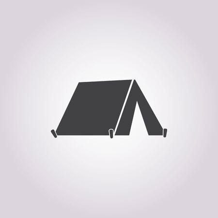 camping tent: tent icon on white background for web
