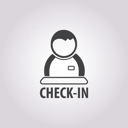 concierge: concierge icon on white background for web