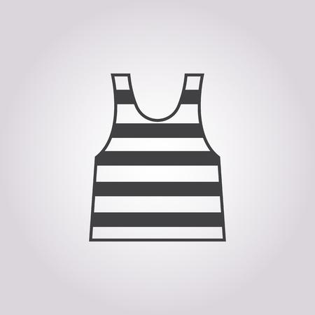 marinero: icono chaleco de marinero sobre fondo blanco para la web
