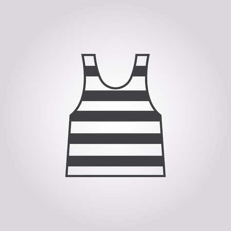 sailor: sailor vest icon on white background for web