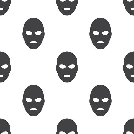 marauder: thief in mask icon on white background for web