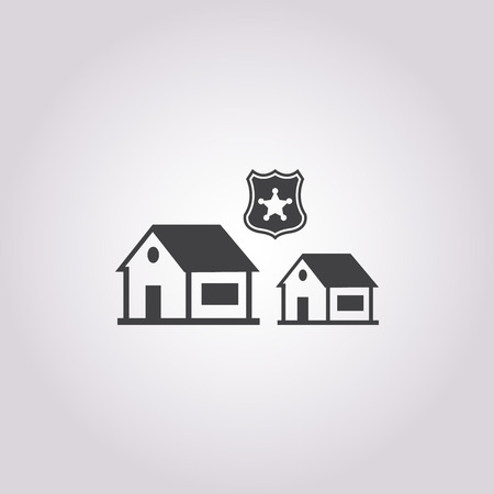 security system icon on white background for web
