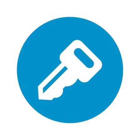 latchkey: key icon on white background for web