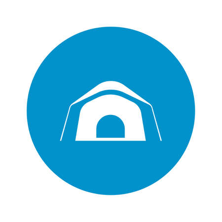 pegs: tent icon on white background for web