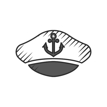 hat captain  icon on white background for web